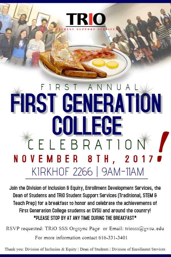 First Gen breakfast flyer 2017